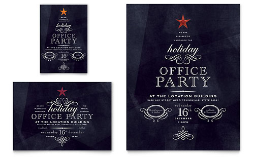 Office Holiday Party Flyer & Ad
