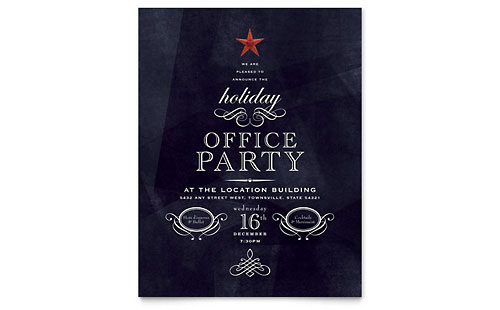 office holiday party invitation template design, Invitation templates