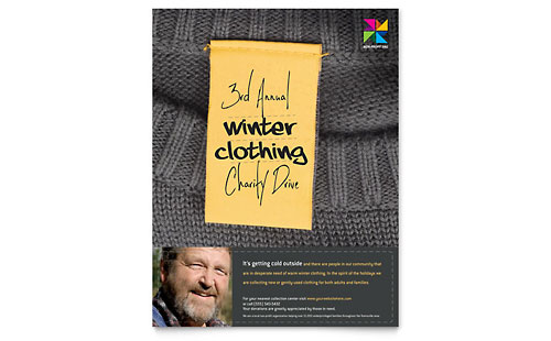 Winter Clothing Drive Flyer
