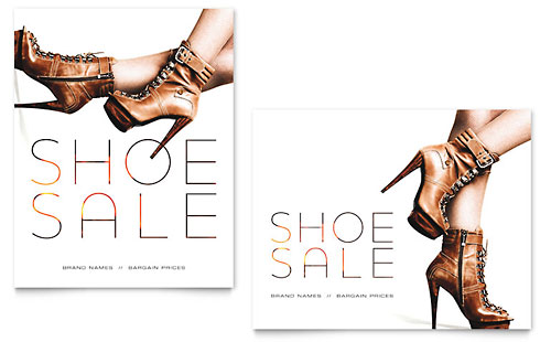 Designer Shoes Sale Poster
