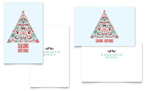 Holiday Art Greeting Card Design Template