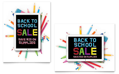 School Supplies Sale Poster
