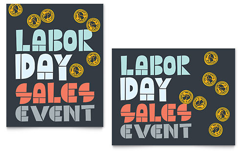 Labor Day Sale Poster