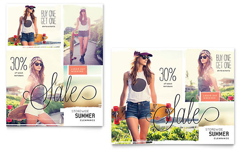 Casual Clothing Sale Poster Design Template