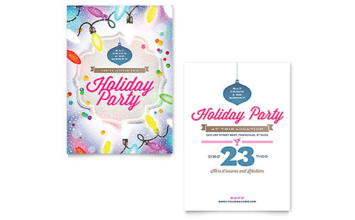 Invitation Templates InDesign Illustrator Publisher Word Pages