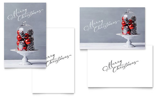 Christmas Display Greeting Card Template Example