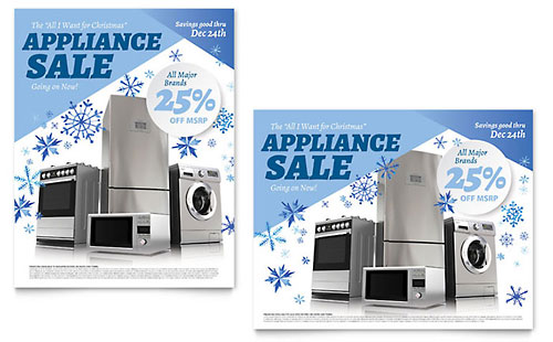 Kitchen Appliance Poster Template