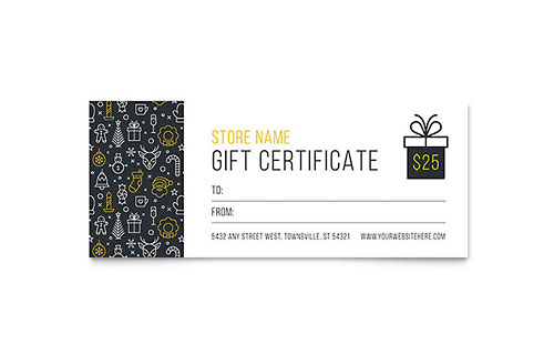 Gift Certificate Templates InDesign Illustrator Publisher Word
