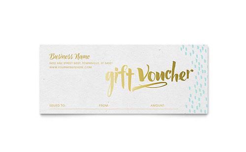 Gift certificate templates indesign illustrator publisher word elegant gold foil gift certificate template yelopaper Images
