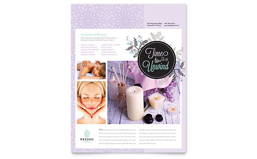 Health Beauty Flyer Templates & Examples