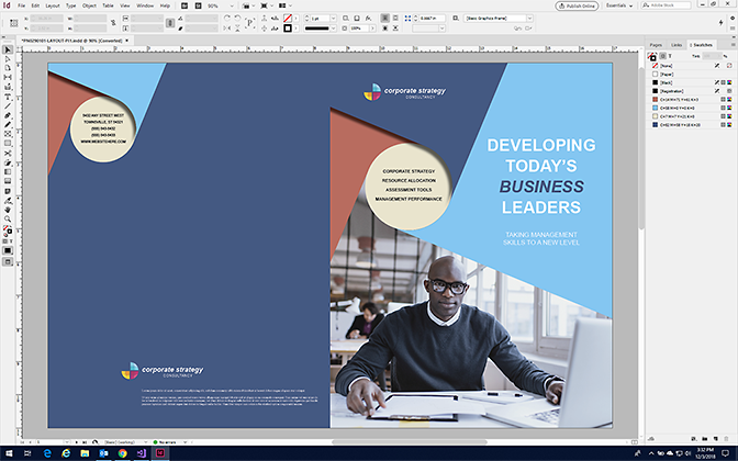 Make a Brochure in InDesign with StockLayouts Templates