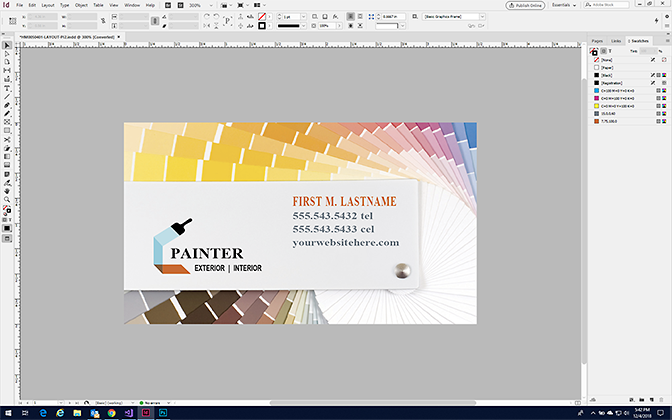 Make a Business Card in InDesign - Format a Business Card