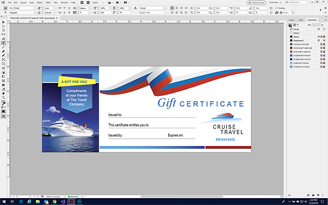 Make a Gift Certificate in InDesign with StockLayouts Templates
