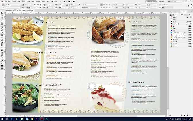 make a restaurant menu design your own menus stocklayouts