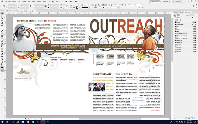 Make a Newsletter in InDesign - Format a Newsletter