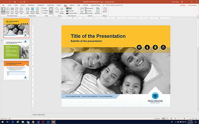 Make a PowerPoint Presentation in Microsoft PowerPoint - Format a PowerPoint Presentation