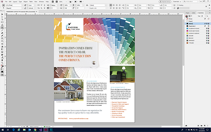Make a Sales Sheet in InDesign - Format a Sales Sheet