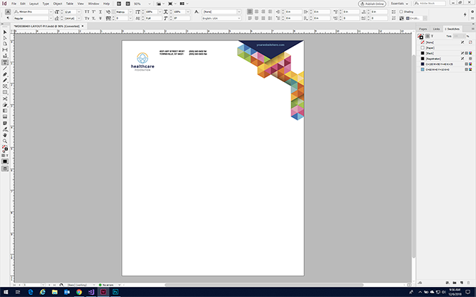 Make a Stationery in InDesign - Format a Stationery