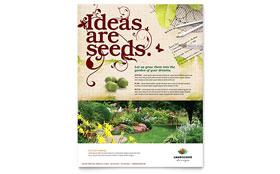 Landscape Design Flyer Template