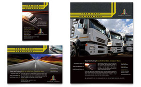 Trucking & Transport - Print Ad Sample Template