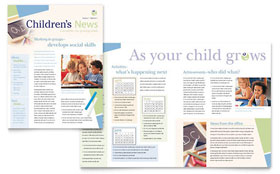Child Care & Preschool - Newsletter Template