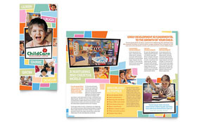 Preschool Kids & Day Care - Tri Fold Brochure Template