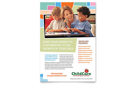 Preschool Kids & Day Care - Flyer Template