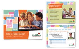 Preschool Kids & Day Care - PowerPoint Presentation Design Template