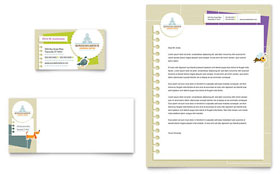 Kindergarten - Business Card & Letterhead Design Template