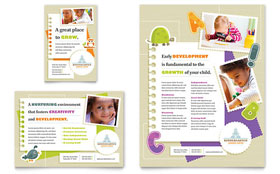 Kindergarten - Flyer & Ad Design Template