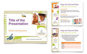 Kindergarten - PowerPoint Presentation Design Template