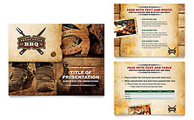 Steakhouse BBQ Restaurant - Microsoft PowerPoint Template