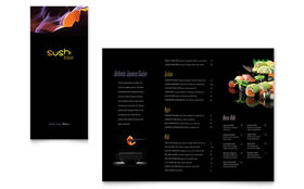 Sushi Restaurant - Take-out Brochure Design Template