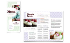 Bakery & Cupcake Shop - Tri Fold Brochure Template