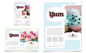 Bakery & Cupcake Shop - Print Ad Sample Template