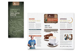 Coffee Shop - Tri Fold Brochure Template