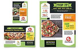 Pizza Parlor - Print Ad Sample Template