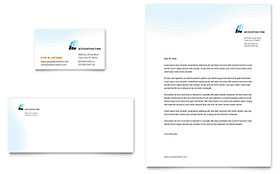 Accounting Firm - Business Card & Letterhead Design Template