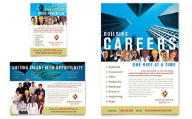Employment Agency & Jobs Fair - Print Ad Sample Template
