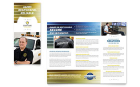 Security Guard - QuarkXPress Tri Fold Brochure Template