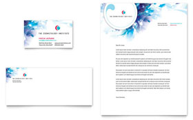 Cosmetology - Business Card & Letterhead Design Template