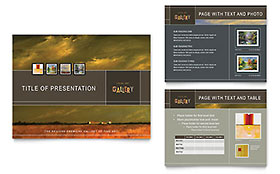 Art Gallery & Artist - Microsoft PowerPoint Template