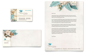 Hospice & Home Care - Business Card & Letterhead Template