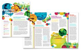 youth program tri fold brochure template design. Black Bedroom Furniture Sets. Home Design Ideas