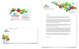 Youth Program - Business Card & Letterhead Design Template