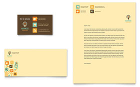 Business Services - Business Card & Letterhead Design Template
