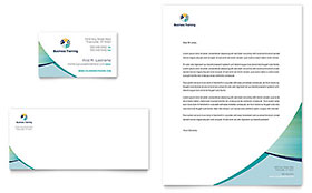 Business Training - Business Card & Letterhead Design Template
