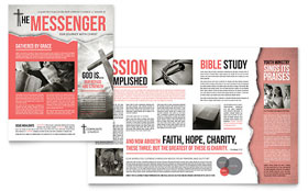 Bible Church - Newsletter Design Template