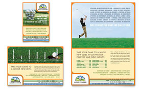 Golf Instructor & Course - Print Ad Sample Template