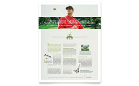 Golf course instruction flyer ad template design for Instruction leaflet template